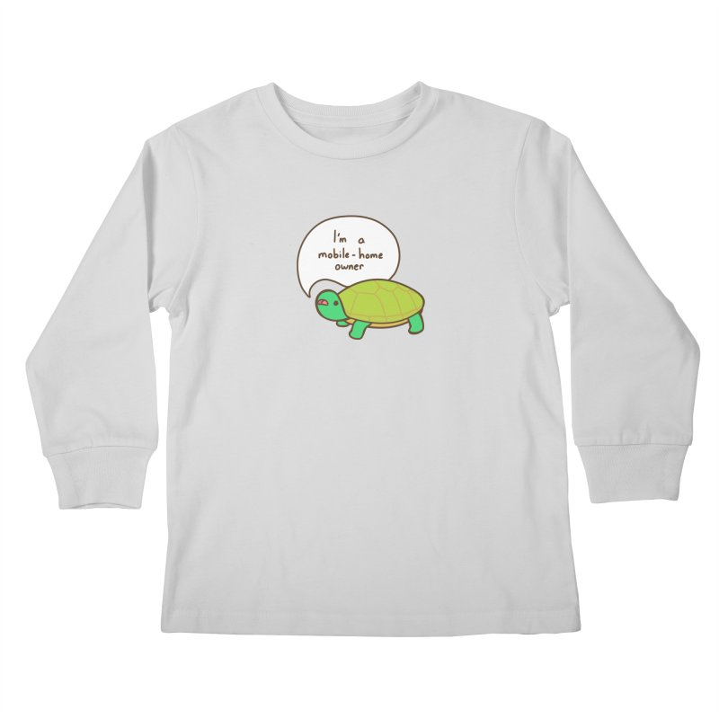 Mobile-Home Owner Kids Longsleeve T-Shirt by Good Bear Comics's Artist Shop