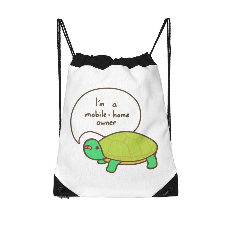 Mobile-Home Owner Accessories Drawstring Bag Bag by Good Bear Comics's Artist Shop