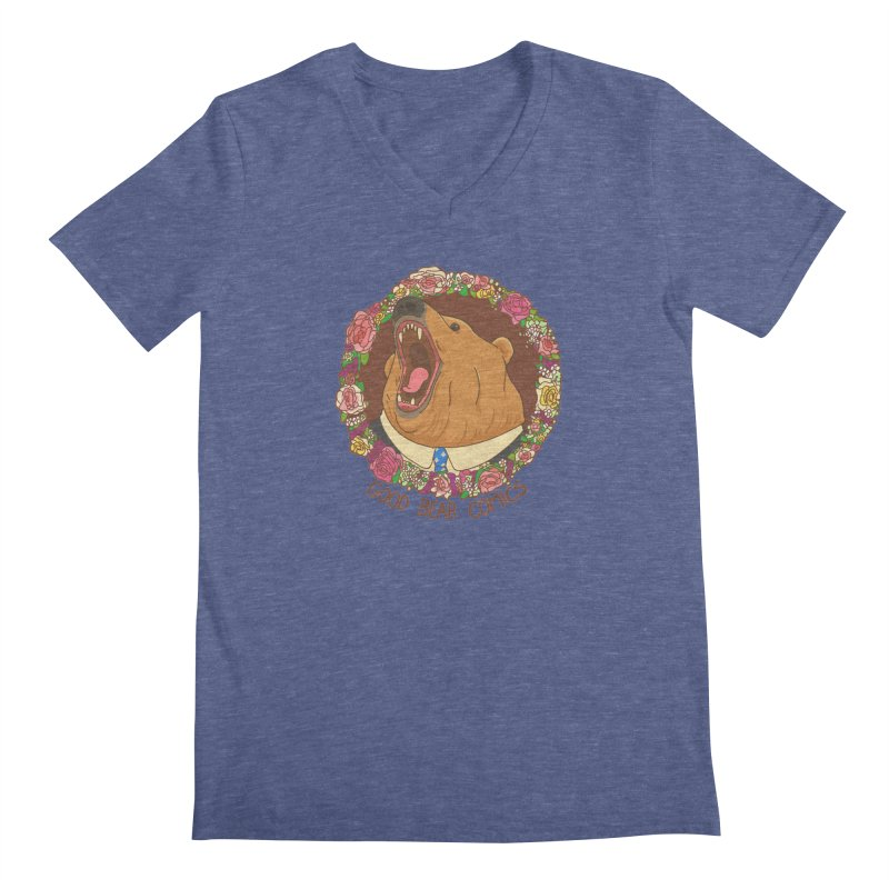 Good Bear Comics Men's Regular V-Neck by Good Bear Comics's Artist Shop