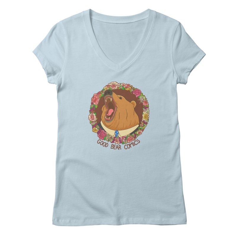 Good Bear Comics Women's V-Neck by Good Bear Comics's Artist Shop