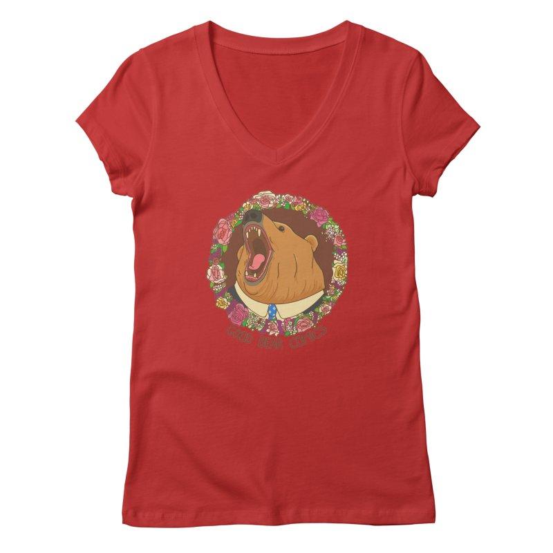 Good Bear Comics Women's Regular V-Neck by Good Bear Comics's Artist Shop