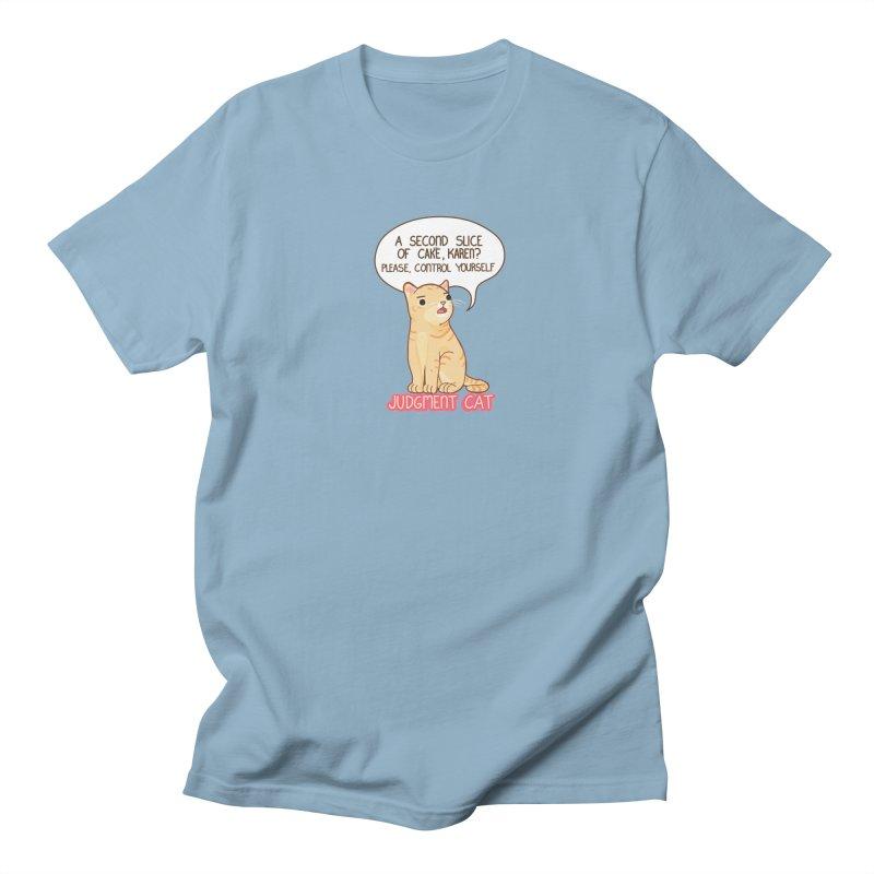 Judgment Cat - cake Men's Regular T-Shirt by Good Bear Comics's Artist Shop