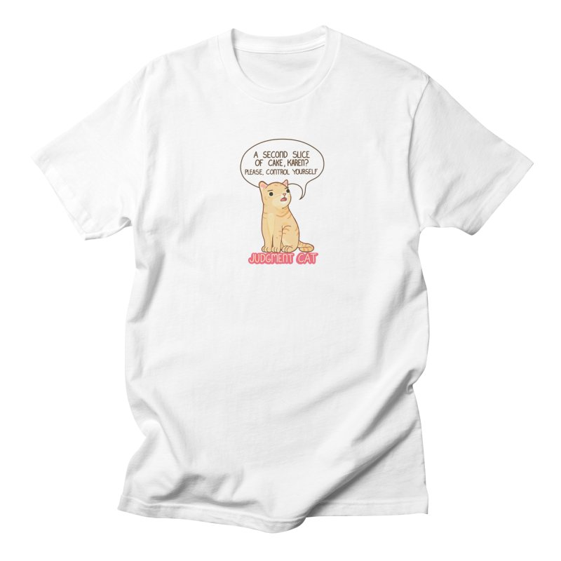 Judgment Cat - cake Men's T-Shirt by Good Bear Comics's Artist Shop