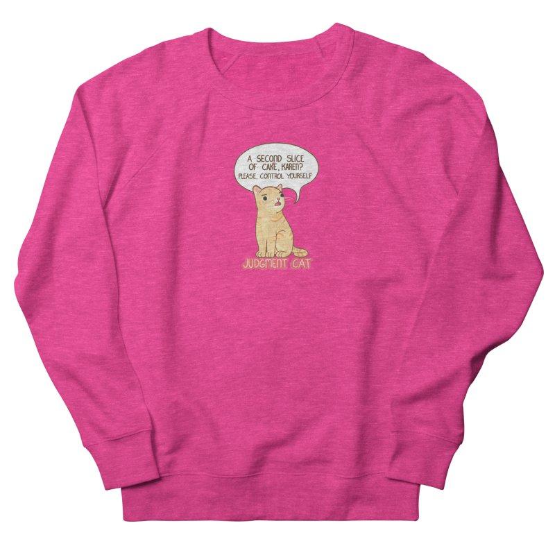 Judgment Cat - cake Women's French Terry Sweatshirt by Good Bear Comics's Artist Shop