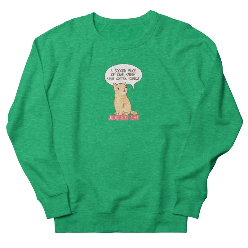Judgment Cat - cake Men's French Terry Sweatshirt by Good Bear Comics's Artist Shop