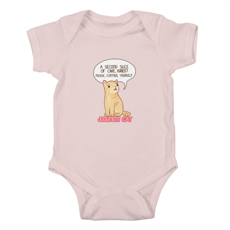 Judgment Cat - cake Kids Baby Bodysuit by Good Bear Comics's Artist Shop
