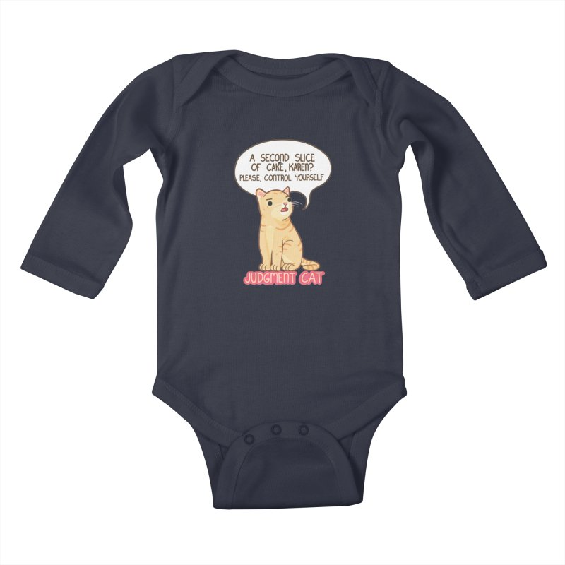 Judgment Cat - cake Kids Baby Longsleeve Bodysuit by Good Bear Comics's Artist Shop