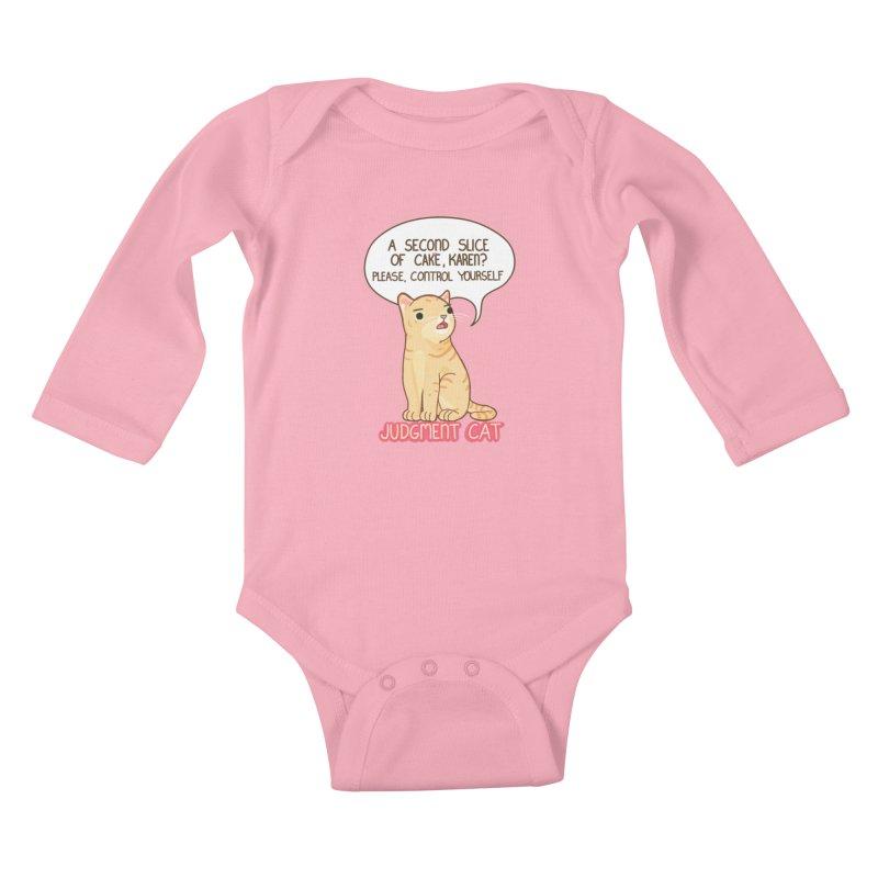Judgment Cat - cake Kids Baby Longsleeve Bodysuit by Good Bear Comics's Artist Shop