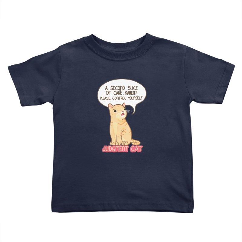 Judgment Cat - cake Kids Toddler T-Shirt by Good Bear Comics's Artist Shop