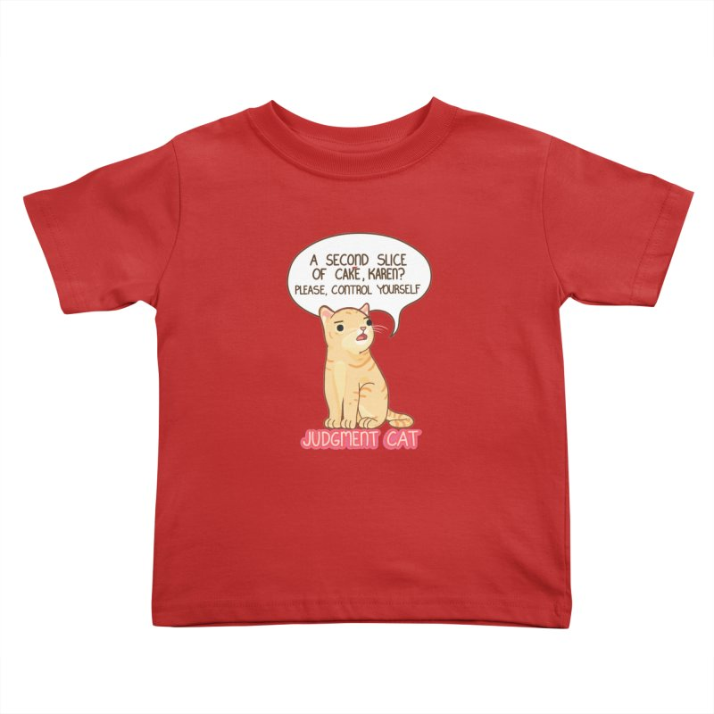 Judgment Cat - cake Kids Toddler T-Shirt by Good Bear Comics's Artist Shop