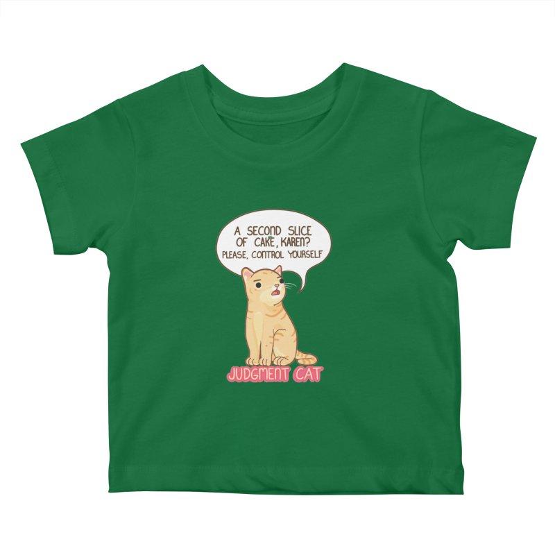 Judgment Cat - cake Kids Baby T-Shirt by Good Bear Comics's Artist Shop