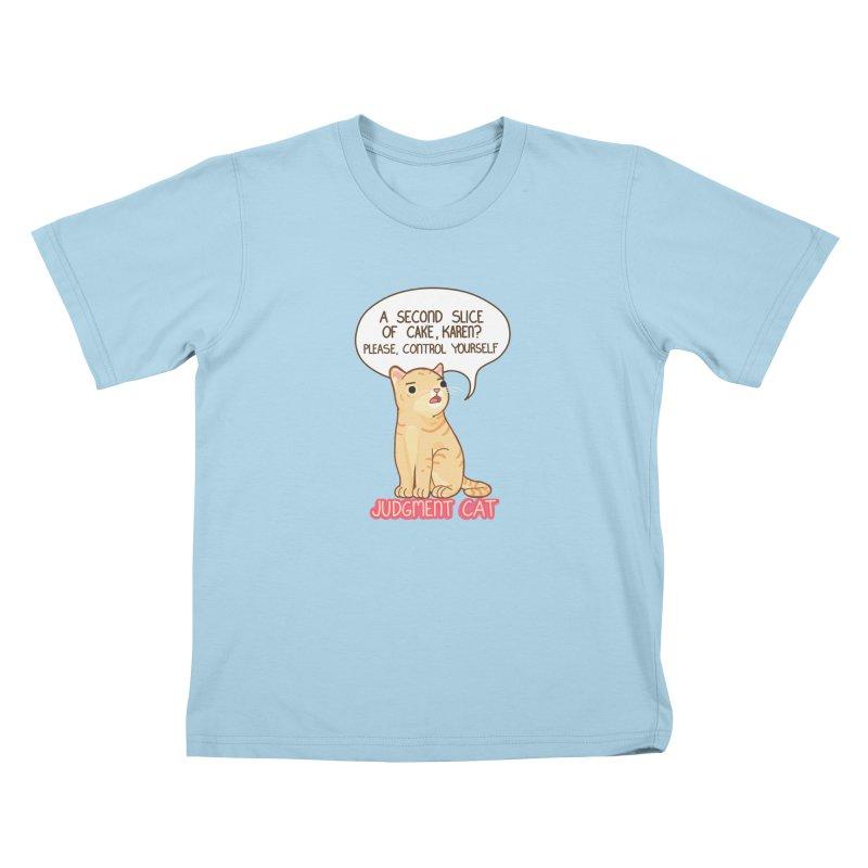 Judgment Cat - cake Kids T-Shirt by Good Bear Comics's Artist Shop