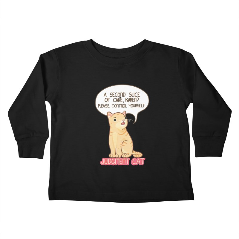 Judgment Cat - cake Kids Toddler Longsleeve T-Shirt by Good Bear Comics's Artist Shop