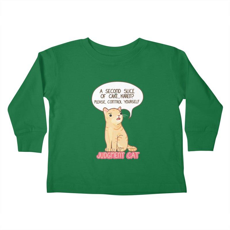 Judgment Cat - cake Kids Toddler Longsleeve T-Shirt by Good Bear Comics's Artist Shop