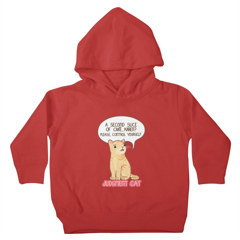 Judgment Cat - cake Kids Toddler Pullover Hoody by Good Bear Comics's Artist Shop