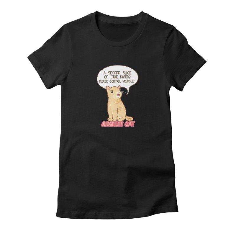 Judgment Cat - cake Women's T-Shirt by Good Bear Comics's Artist Shop