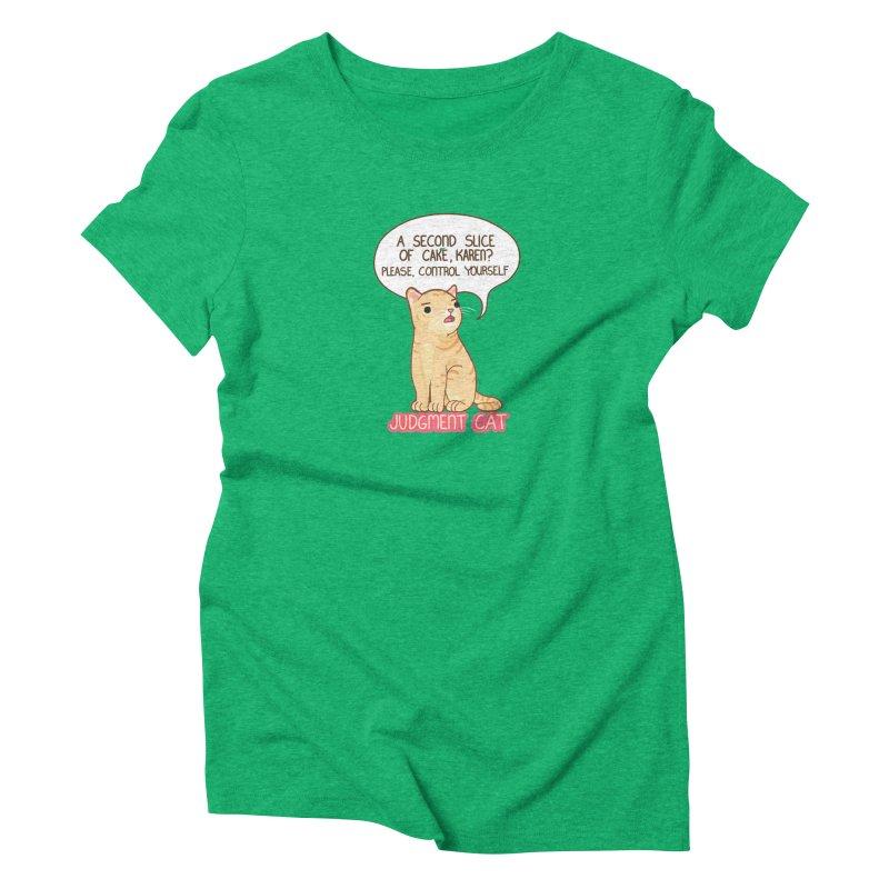Judgment Cat - cake Women's Triblend T-Shirt by Good Bear Comics's Artist Shop