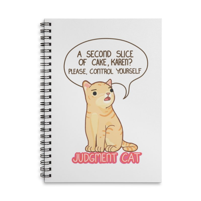 Judgment Cat - cake Accessories Lined Spiral Notebook by Good Bear Comics's Artist Shop