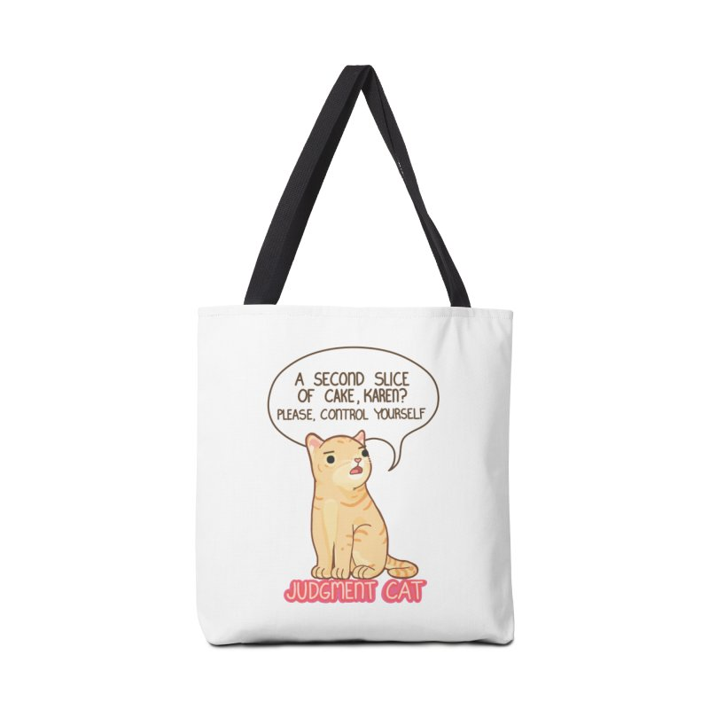 Judgment Cat - cake Accessories Tote Bag Bag by Good Bear Comics's Artist Shop