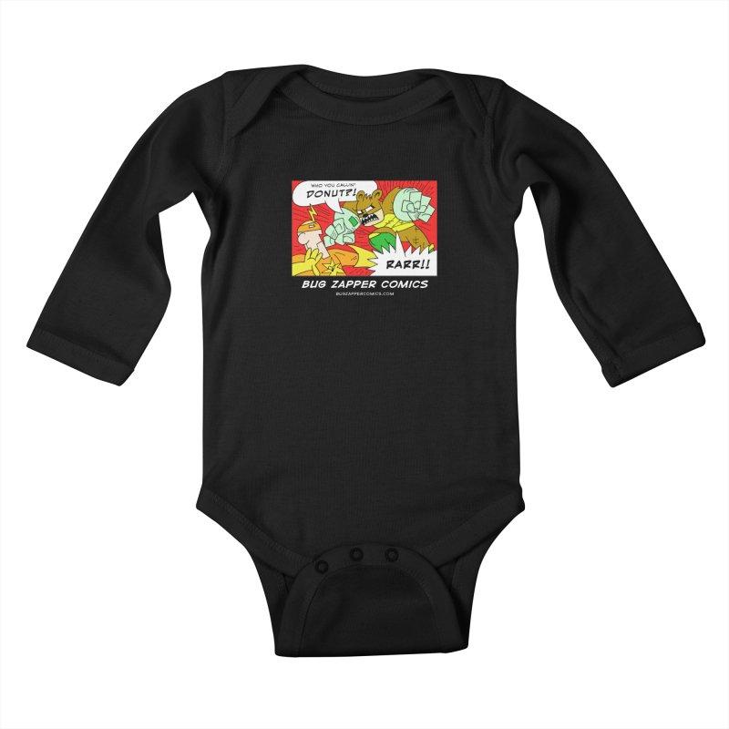 Who You Callin' Donut?! Kids Baby Longsleeve Bodysuit by The Bug Zapper