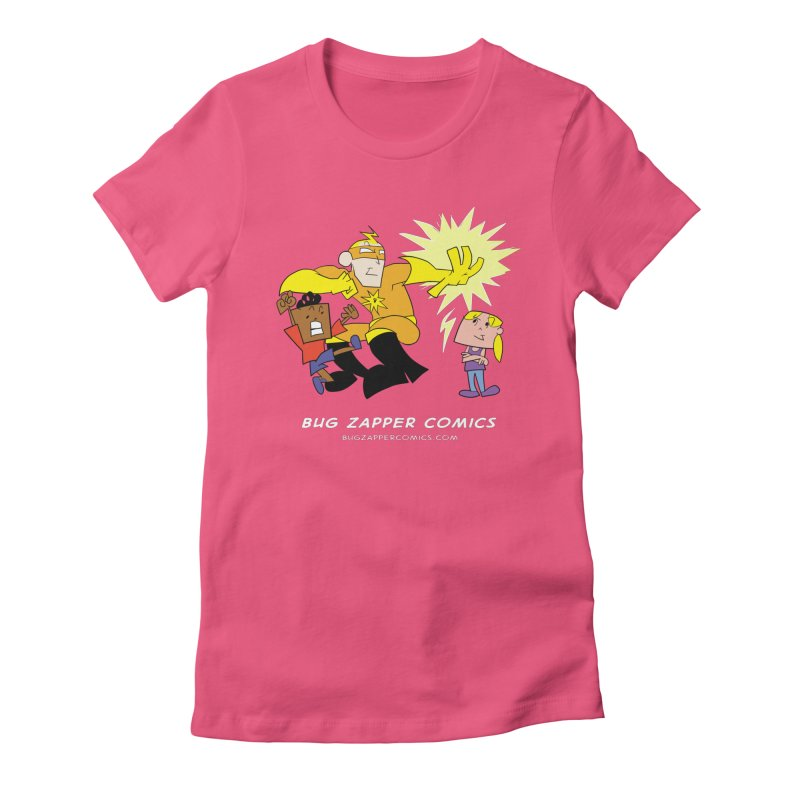 Bug Zapper cover art Women's Fitted T-Shirt by The Bug Zapper