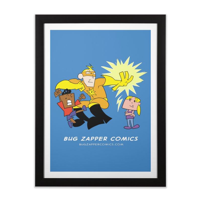 Bug Zapper cover art Home Framed Fine Art Print by The Bug Zapper