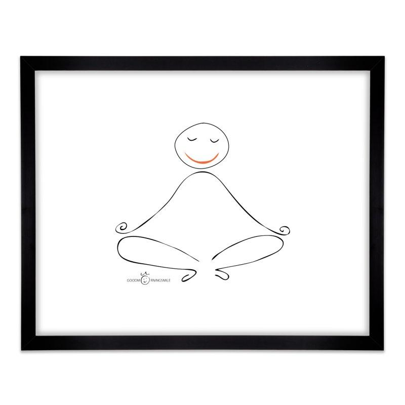 Yoga Smile Home Framed Fine Art Print by Good Morning Smile