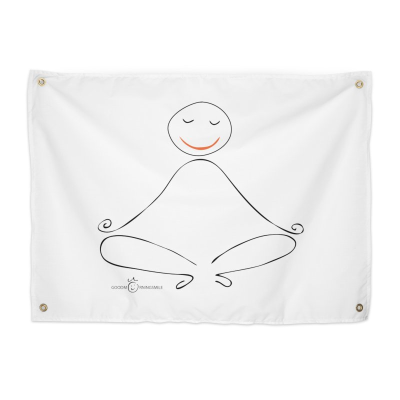Yoga Smile Home Tapestry by Good Morning Smile
