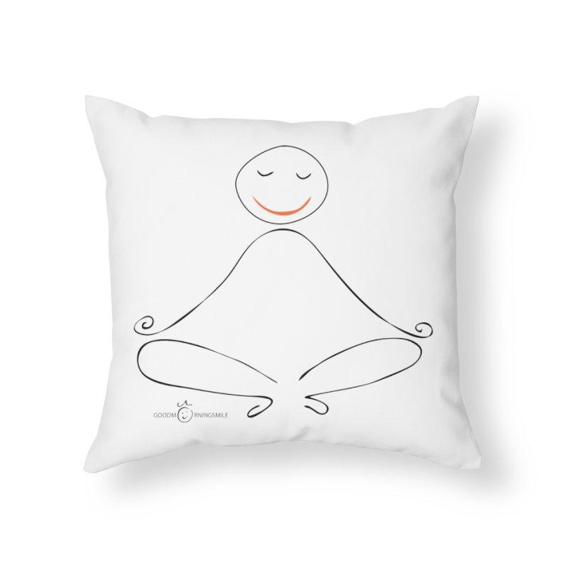 Yoga Smile Home Throw Pillow by Good Morning Smile