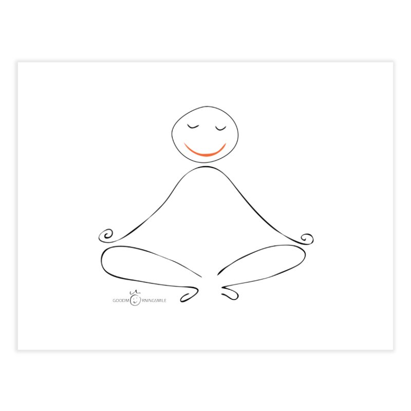 Yoga Smile Home Fine Art Print by Good Morning Smile
