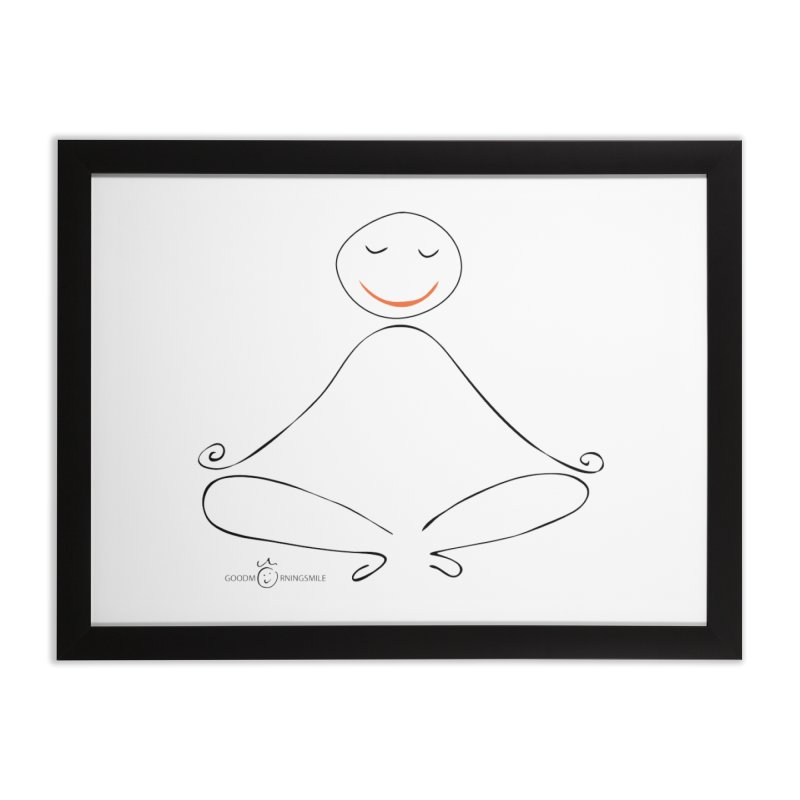 Yoga Smile Home Framed Fine Art Print by Good Morning Smile