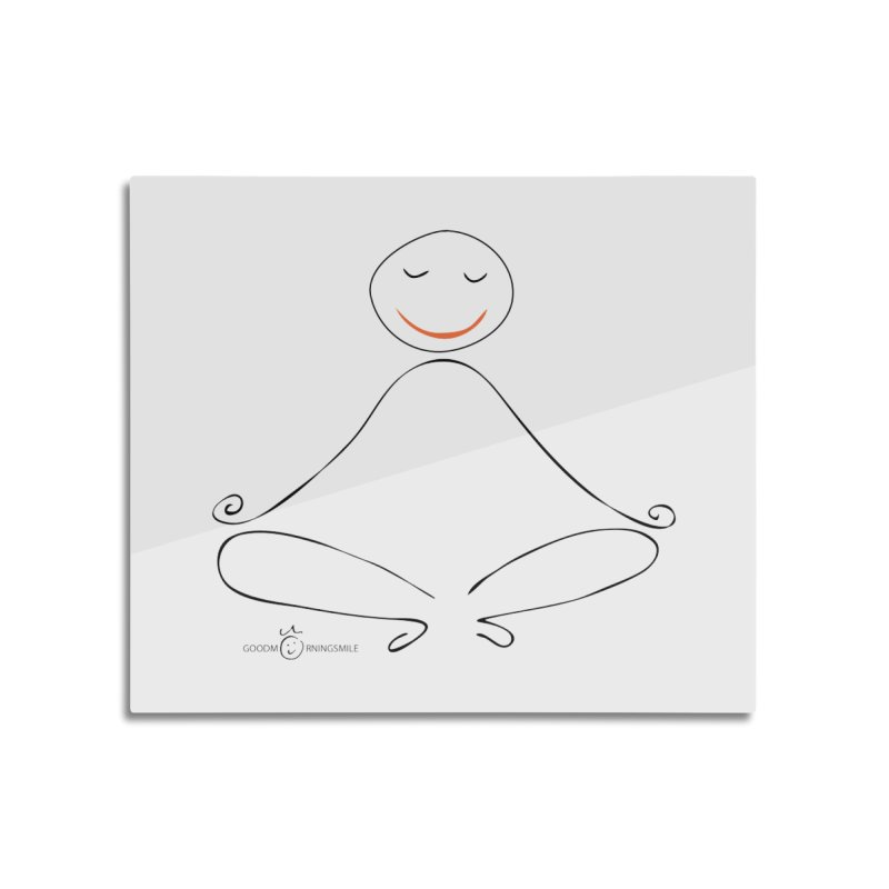 Yoga Smile Home Mounted Aluminum Print by Good Morning Smile