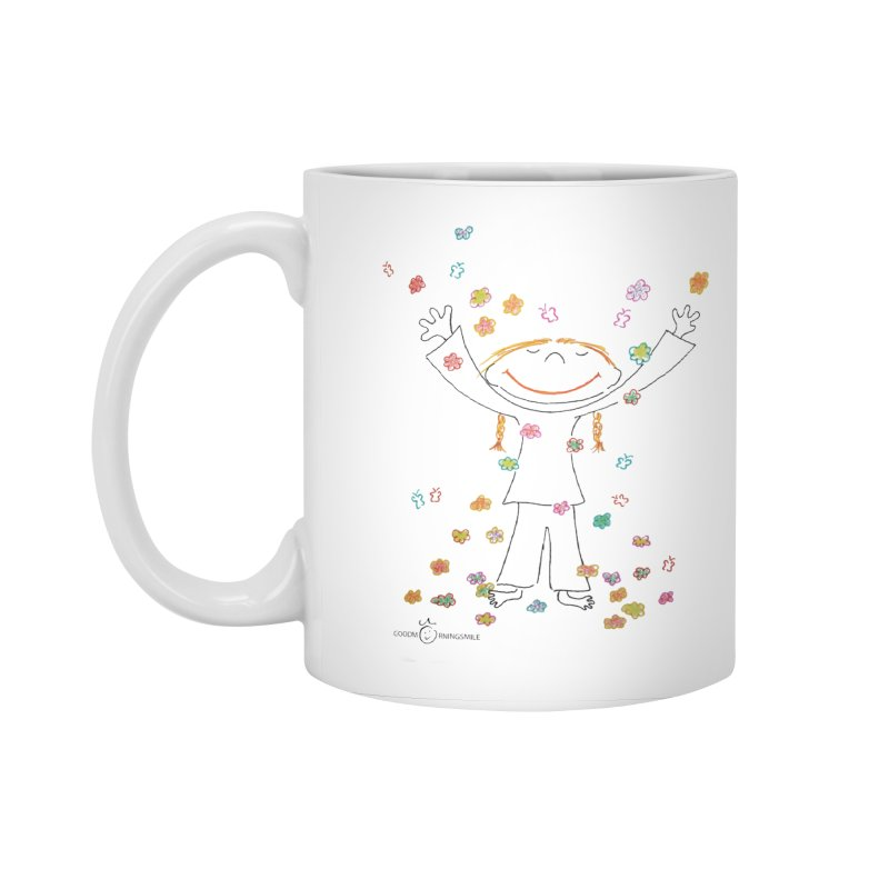 Happy Flower Girl Smile Accessories Standard Mug by Good Morning Smile