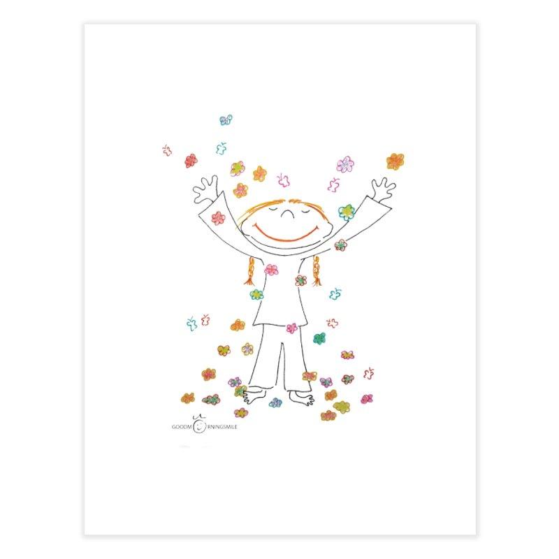 Happy Flower Girl Smile Home Fine Art Print by Good Morning Smile