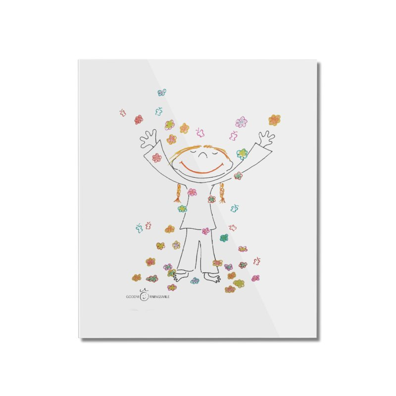 Happy Flower Girl Smile Home Mounted Acrylic Print by Good Morning Smile