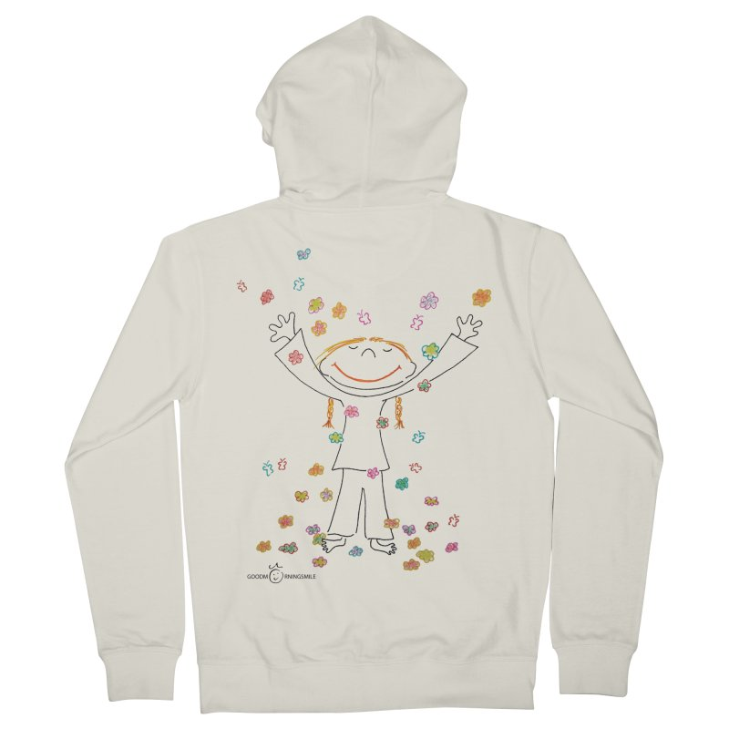 Happy Flower Girl Smile Men's Zip-Up Hoody by Good Morning Smile