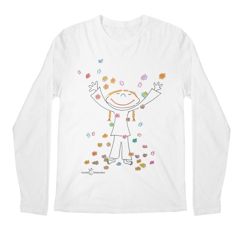 Happy Flower Girl Smile Men's Longsleeve T-Shirt by Good Morning Smile