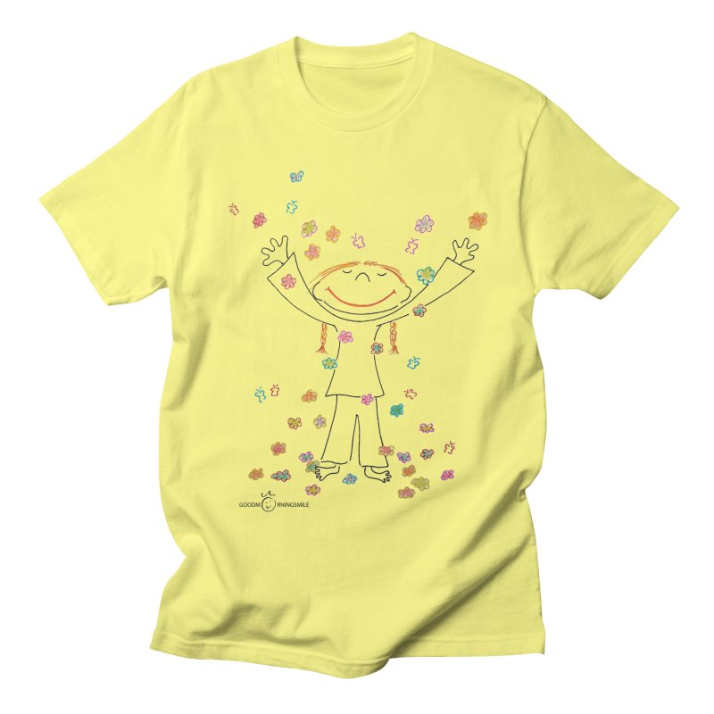 Happy Flower Girl Smile Men's T-Shirt by Good Morning Smile