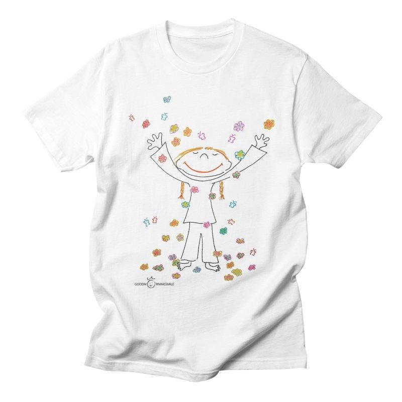 Happy Flower Girl Smile Men's T-Shirt by Good Morning Smile