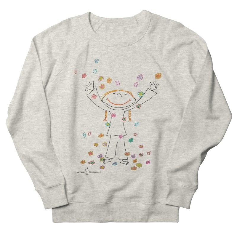 Happy Flower Girl Smile Men's Sweatshirt by Good Morning Smile