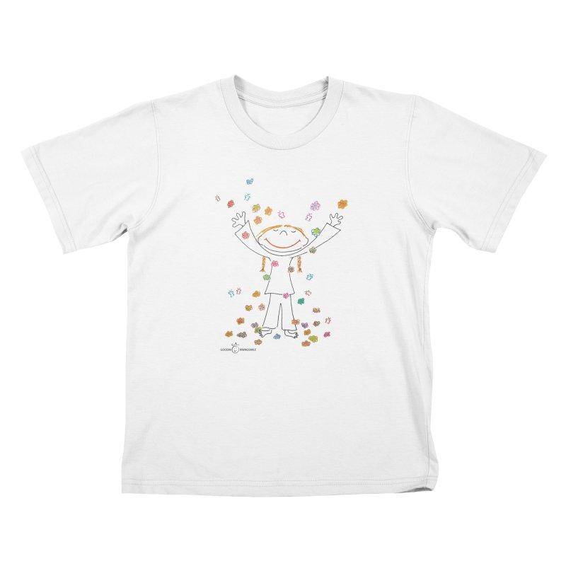 Happy Flower Girl Smile Kids T-Shirt by Good Morning Smile