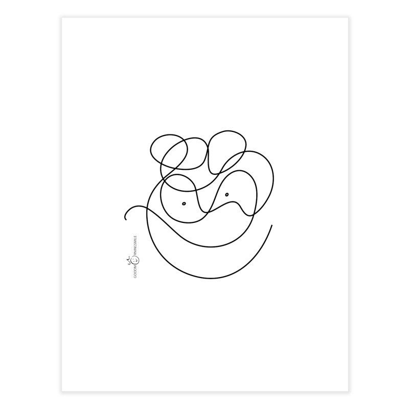 OneLine Smile Home Fine Art Print by Good Morning Smile
