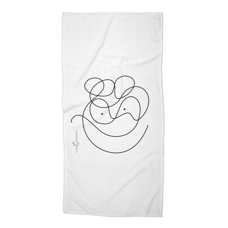 OneLine Smile Accessories Beach Towel by Good Morning Smile