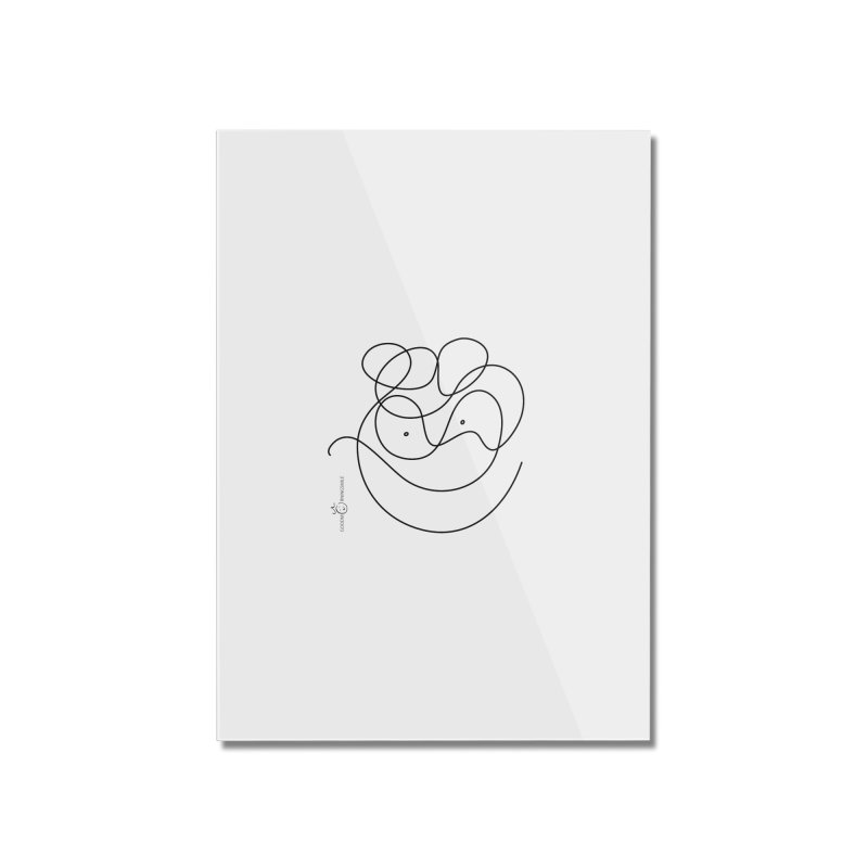 OneLine Smile Home Mounted Acrylic Print by Good Morning Smile