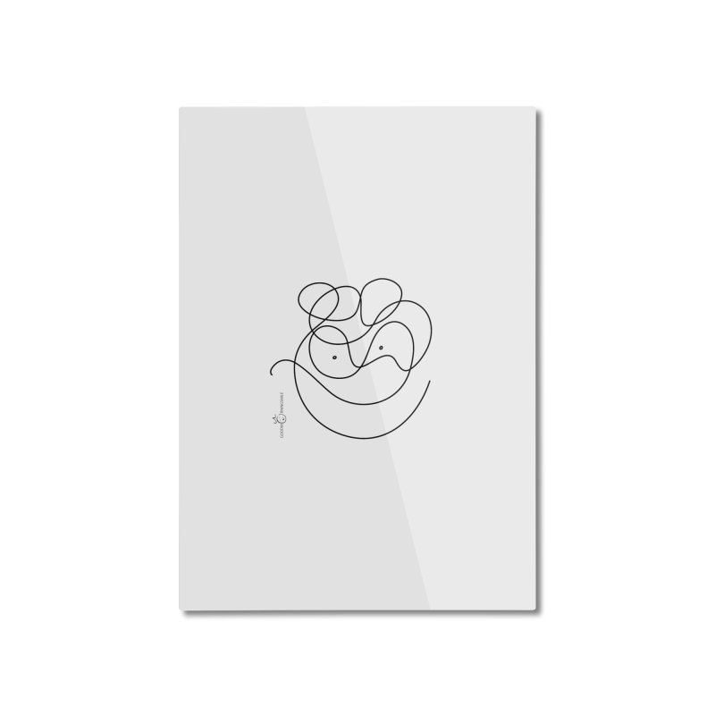 OneLine Smile Home Mounted Aluminum Print by Good Morning Smile