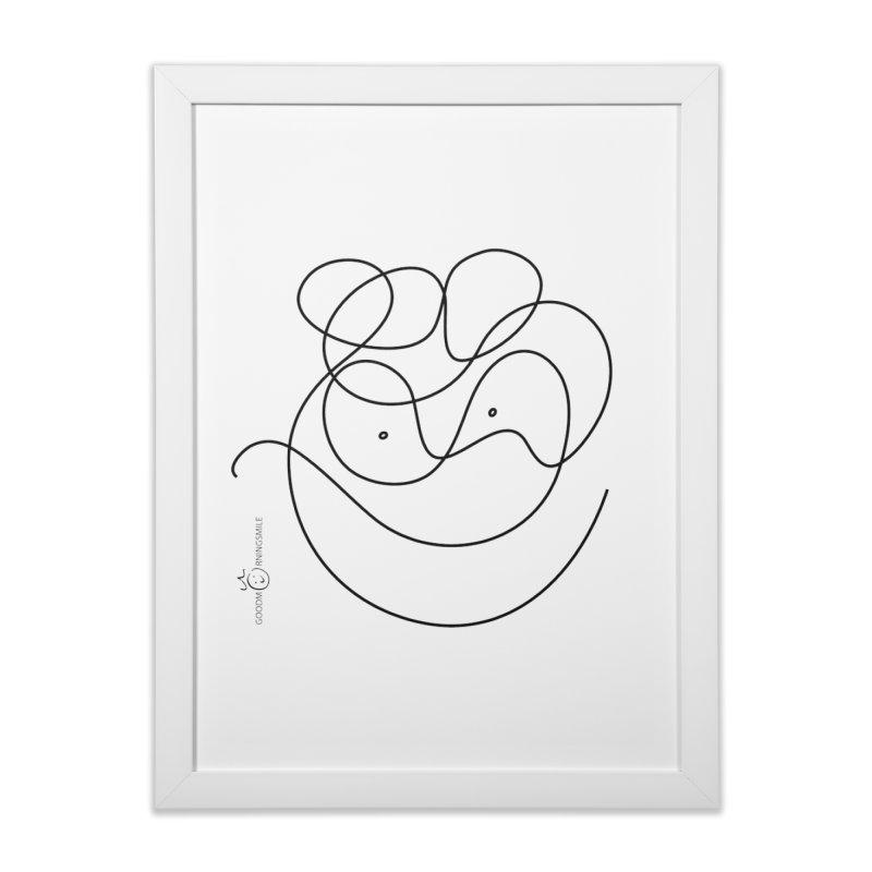 OneLine Smile Home Framed Fine Art Print by Good Morning Smile