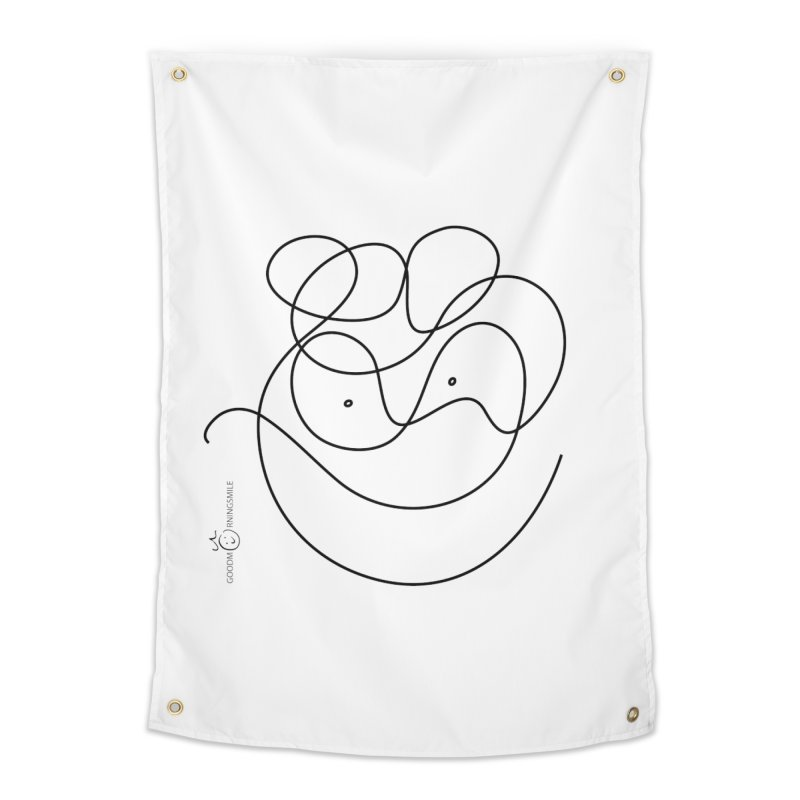 OneLine Smile Home Tapestry by Good Morning Smile