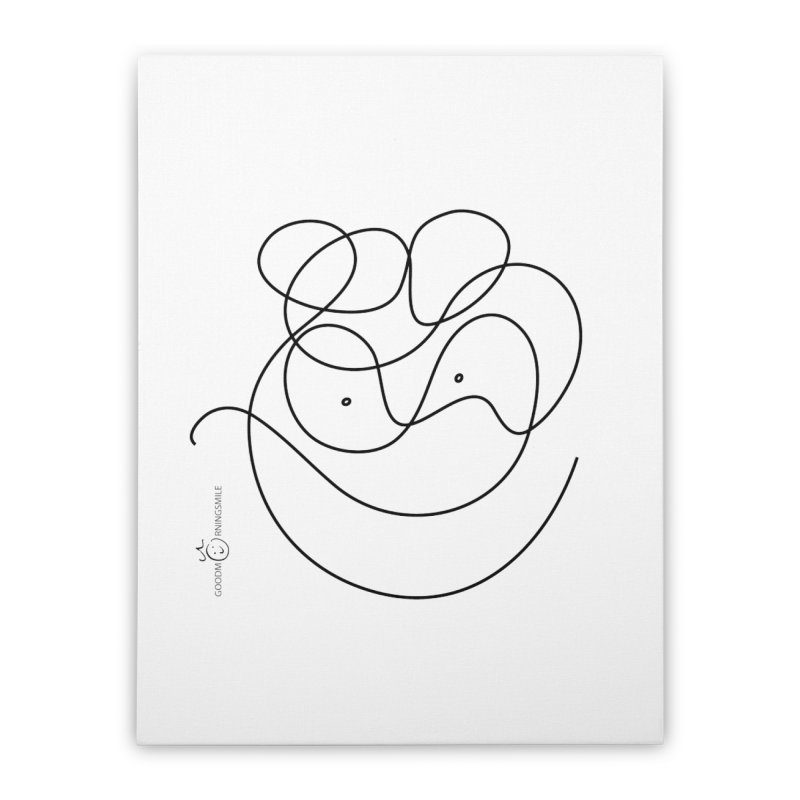 OneLine Smile Home Stretched Canvas by Good Morning Smile