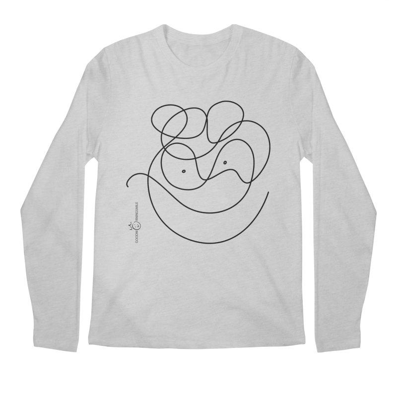 OneLine Smile Men's Longsleeve T-Shirt by Good Morning Smile