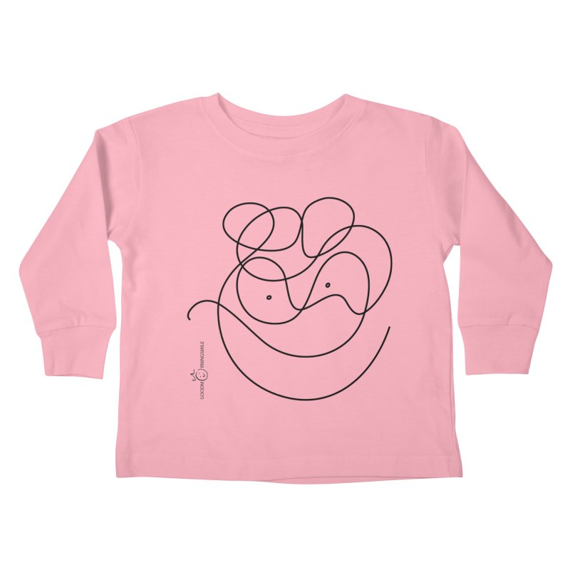 OneLine Smile Kids Toddler Longsleeve T-Shirt by Good Morning Smile
